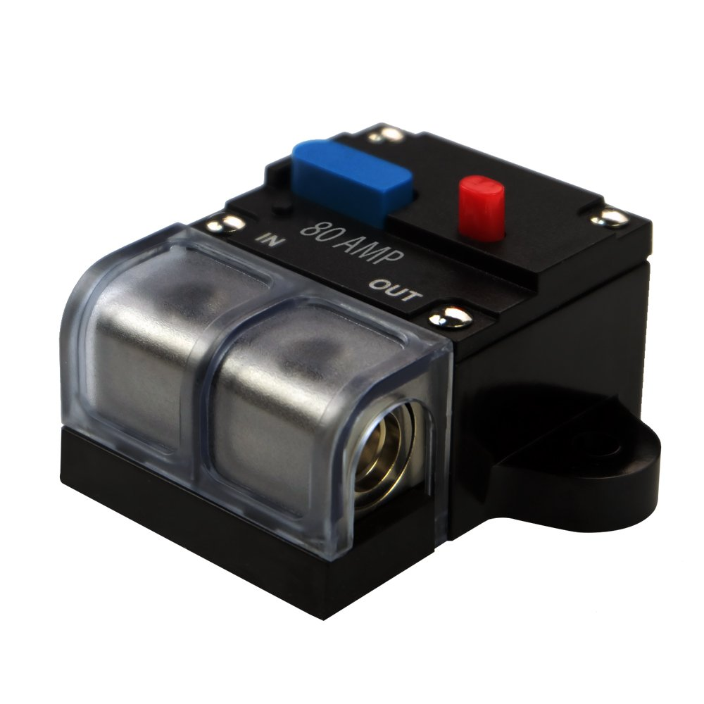 80a Circuit Breaker Trolling Motor Auto Car Marine Boat 300 Amp Audio Inline Replace Fuse For 12v Dc Bike Stereo Holders Inverter Automotive