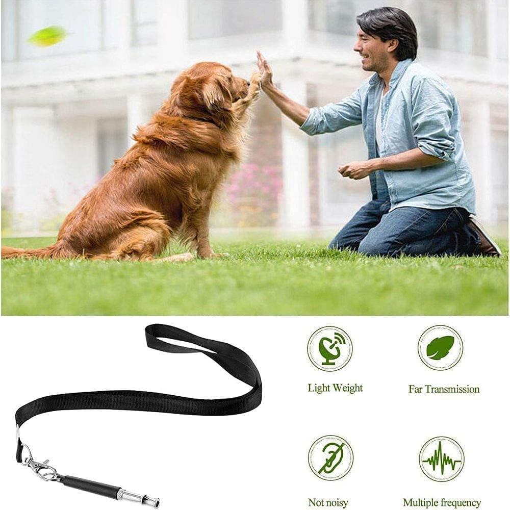 Dog Whistle to Stop Barking, Adjustable Pitch Ultrasound Dog Training Whistle, Barking Control Devices for Recall, Stop Barking, Dog Training, Silent Dog Whistle - 2 Pack