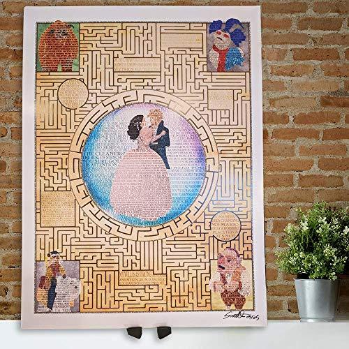 Labyrinth limited edition word art print 18x24