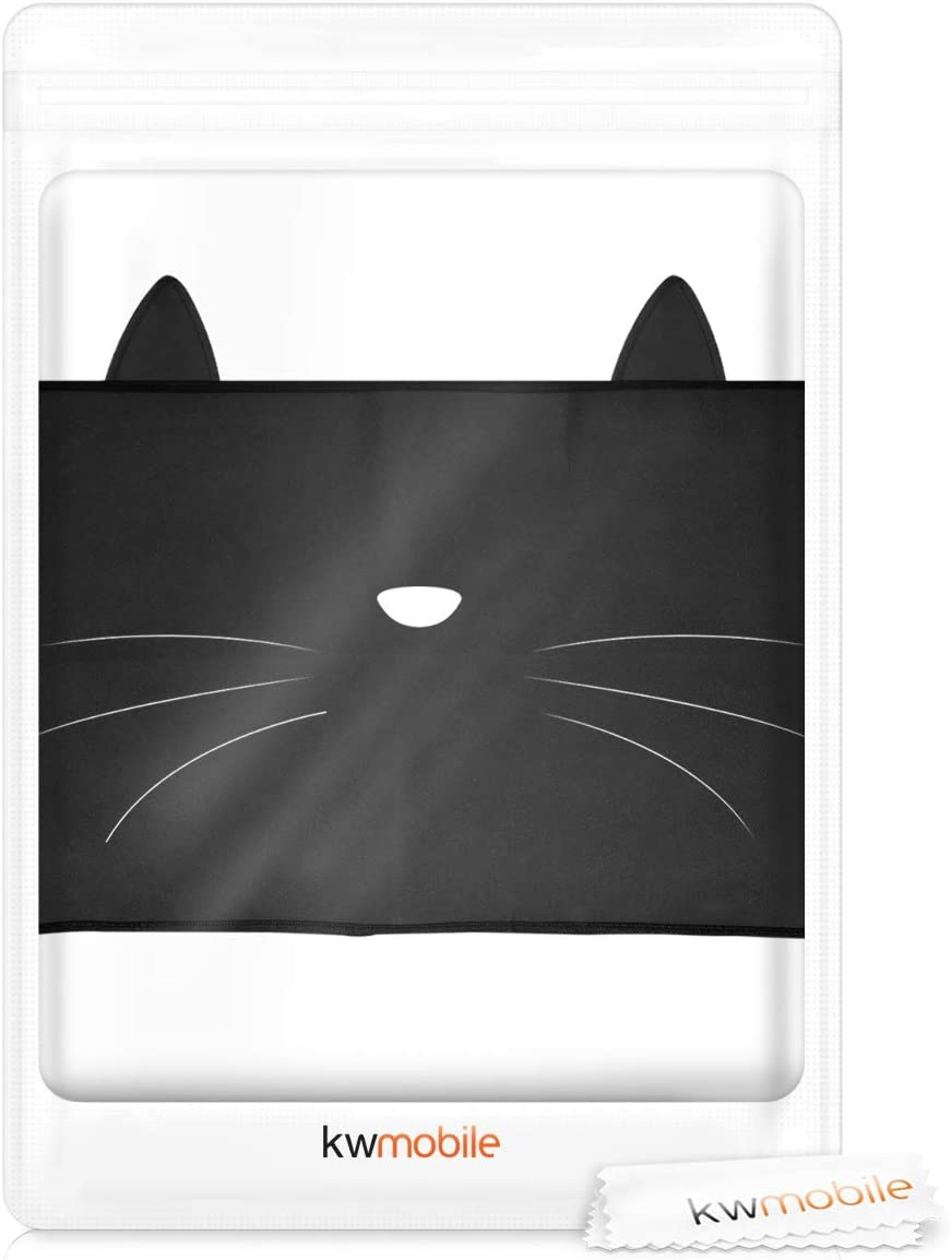 Meow Meow White//Black Dust Monitor Case Screen Display Protector kwmobile Monitor Cover Compatible with 24-26 monitor