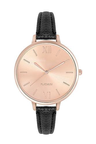 Zierliche Fashion Damenuhr in Farbe Schwarz Rose Gold Uhr Edelstahl Armbanduhr Armbanduhren Schmuck ...