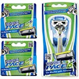 Dorco Pace 6 Plus- Six Blade Razor System with Trimmer - Value Pack (10 Cartridges + 1 Handle)