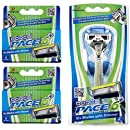Dorco Pace 6 Plus- Six Blade Razor System with Trimmer - Value Pack
