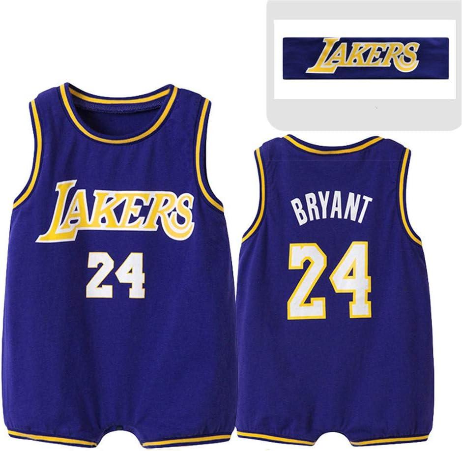 Bryant 24# Maglia Unisex da Basket Senza Maniche Body Neonata Bambino Bambina Tutina Pagliaccetto Playsuit Estate Tuta da Vestito Lvbeis Body per Neonato