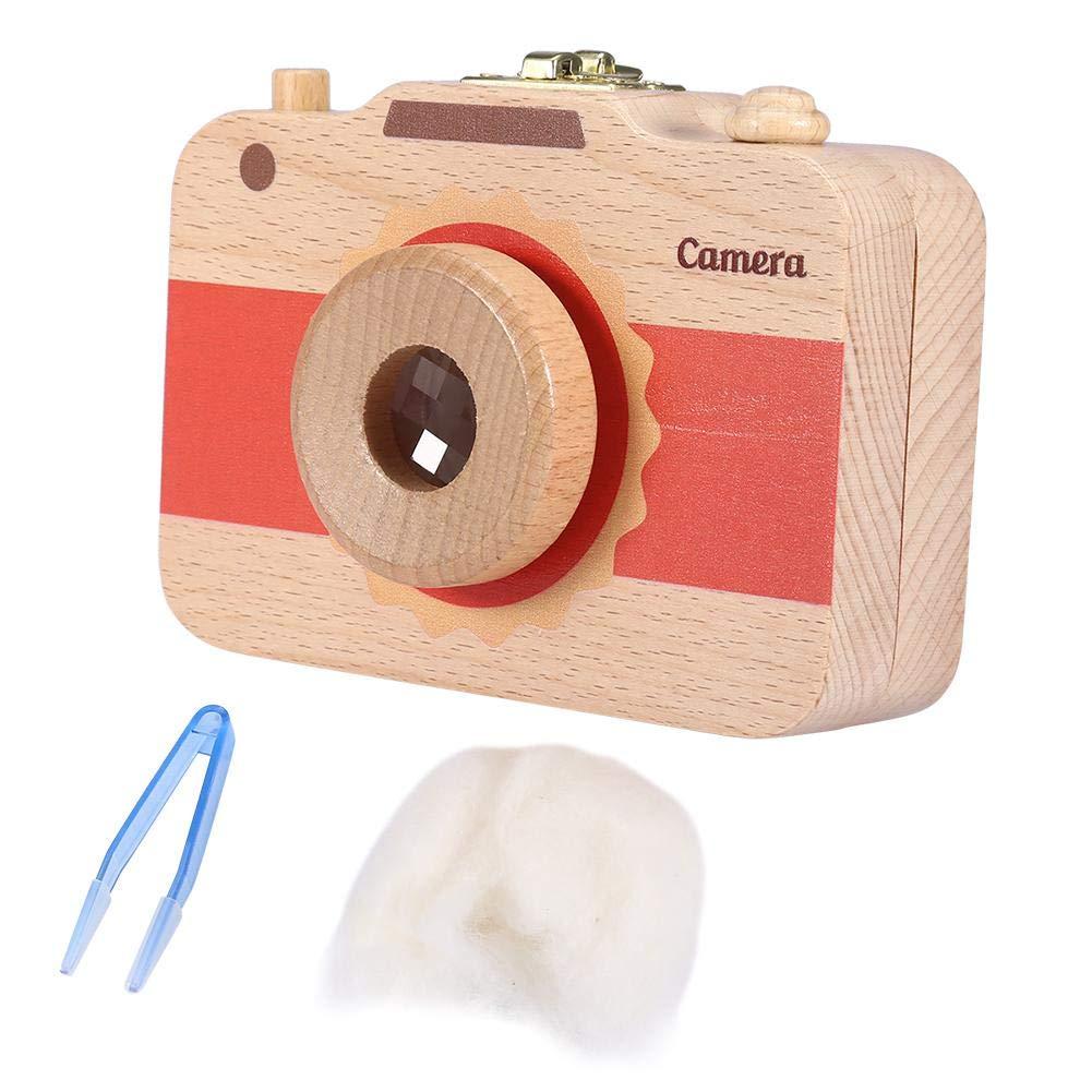 Bo/îte de rangement en forme de cam/éra bo/îte /à rangement en bois pour bo/îte de conservation des cheveux pour dents de b/éb/é #1 bo/îte /à dents en bois pour lait
