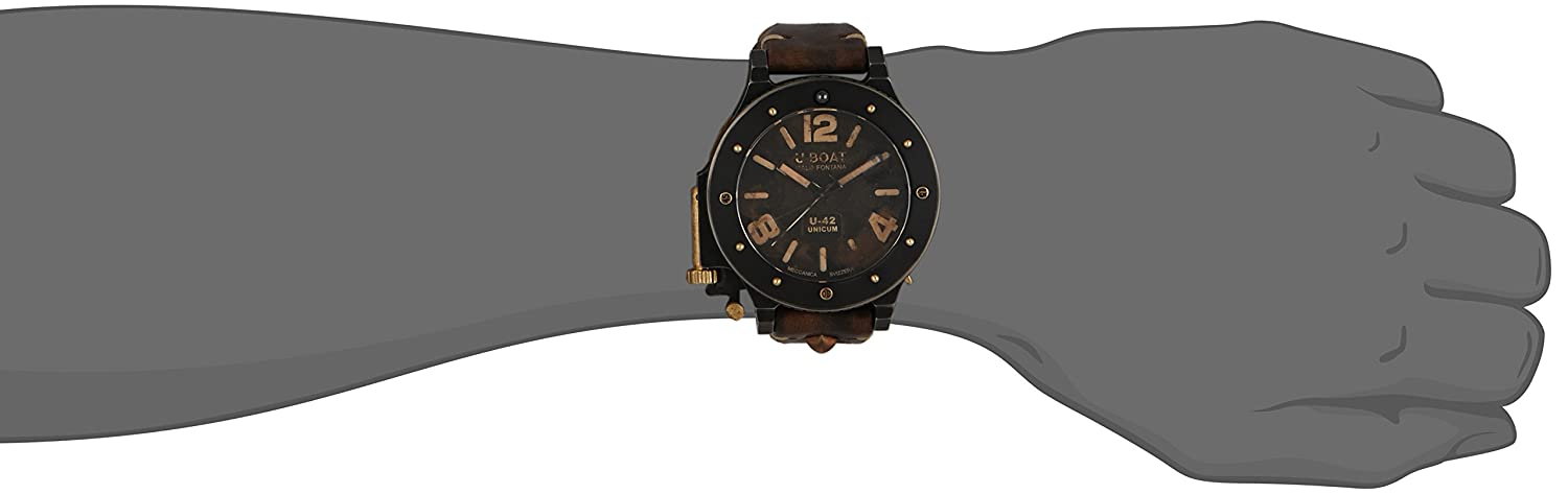 Amazon.com: U-Boat U-42 Unicum 8088 Editio Secunda Titanium - Bronze 53 mm Autom.: Watches