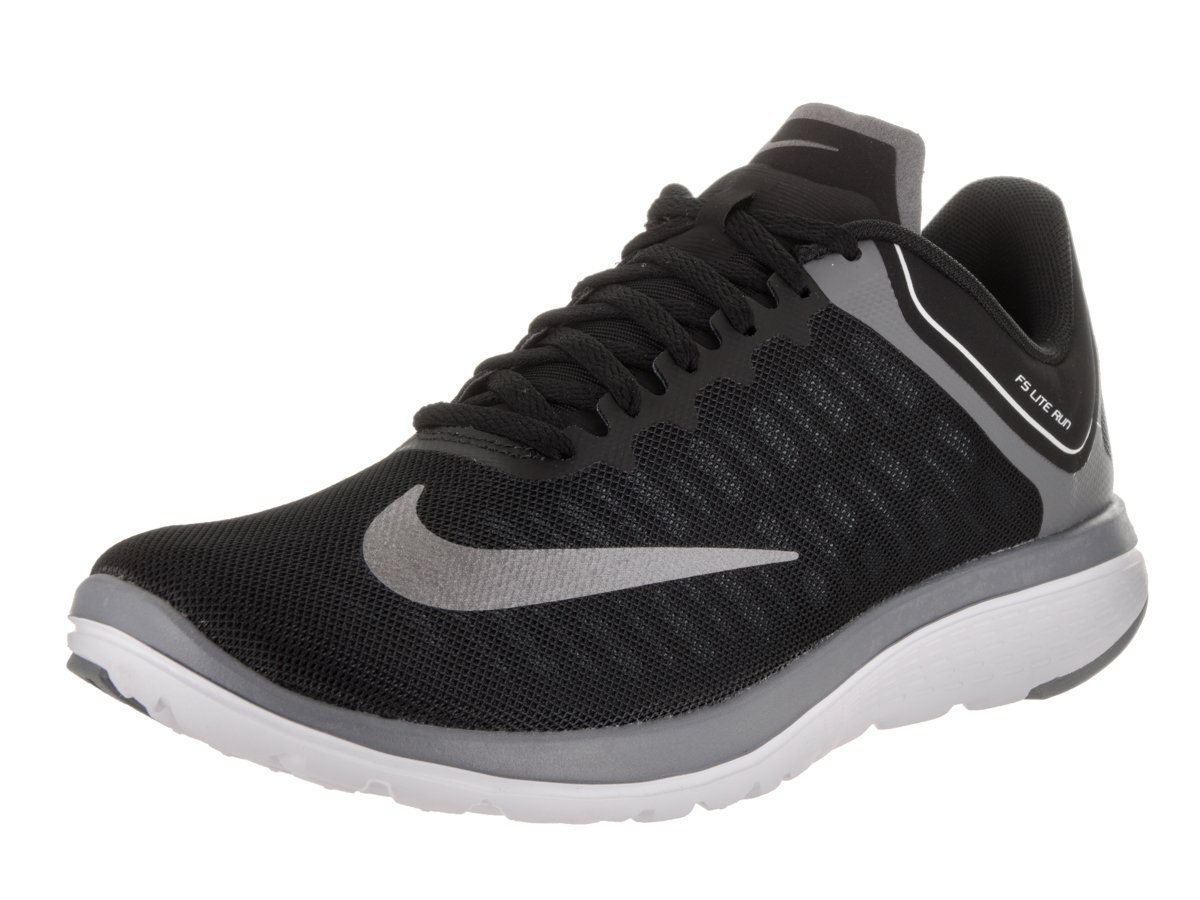 Nike Mens FS Lite Run 4 Running Shoe  12 D(M) US|Black/Mtlc Cool Grey/Cool Grey