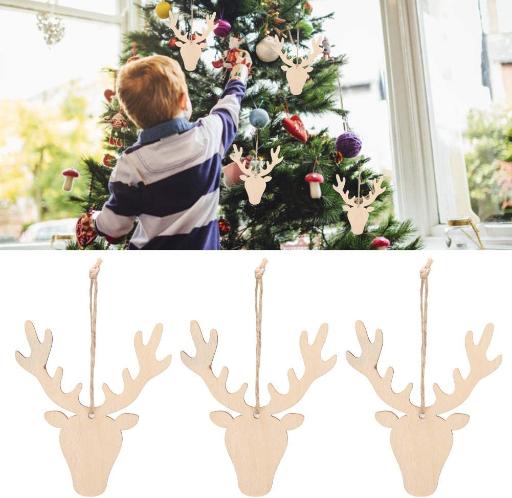 Bird Shape 50pcs Christmas Tree Wooden Hanging Ornaments for Christmas Birthday Party Embellishments DIY Craft Christmas Wood Tags