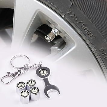 Tapones antipolvo para válvulas de neumáticos F88-123 de Mercedes-Benz, de color negro y llave inglesa: Amazon.es: Coche y moto