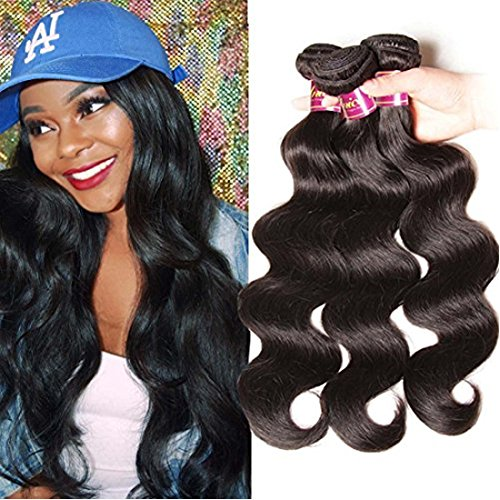 Unice-Hair-Grade-6A-100-Virgin-Brazilian-Human-Hair-Body-Wave-Weave-Hair-Extension-with-Mixed-Length-95g-100g-Per-Bundle