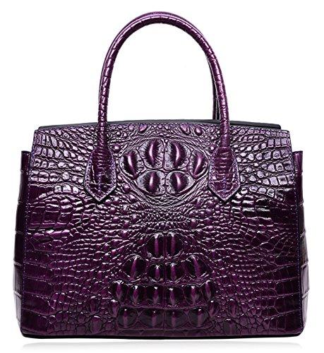 Piel Otra De Bolso Violeta Para Asas Mujer Pijushi wH71qxUInn