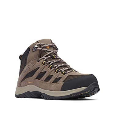 d0dd114aa7d Columbia Men's Crestwood Mid Waterproof Hiking Boot, Breathable,  High-Traction Grip