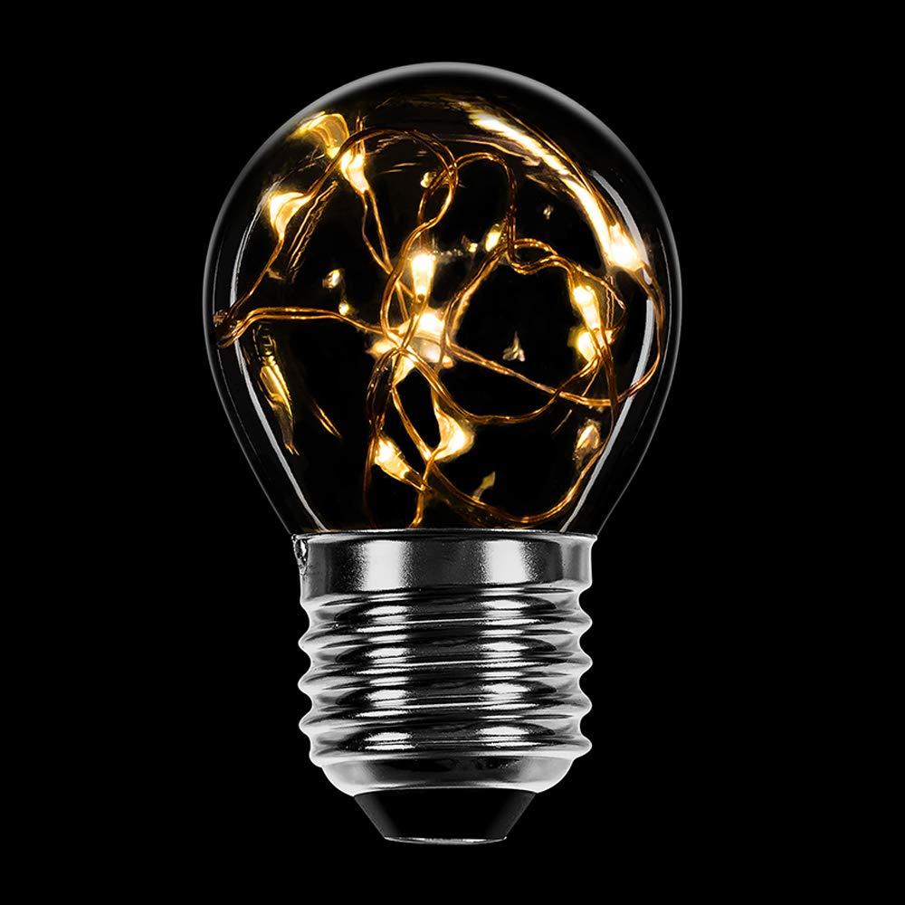 10 x LED Filament Tropfen 1W fast 15W E14 klar Glühfaden Retro Kugeln P45 2700K