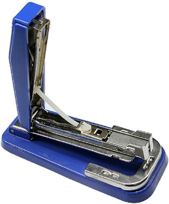 Nacpy Pr/áctico Grapadora de mano de fuerza de trabajo Grapadora manual Grapadora giratoria creativa para oficina equipo de estudiante papeler/ía azul