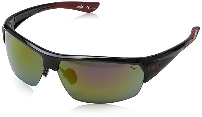 e35e981fd6a PUMA Eyewear - Lunettes de soleil - Homme - Noir - Noir - Taille unique   Amazon.fr  Sports et Loisirs