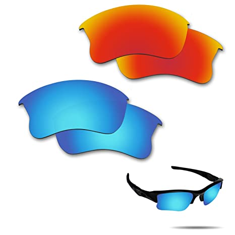 750564dcc85e7 Amazon.com   Fiskr Anti-Saltwater Polarized Replacement Lenses for Oakley  Flak Jacket XLJ Sunglasses 2 Pairs Packed   Sports   Outdoors