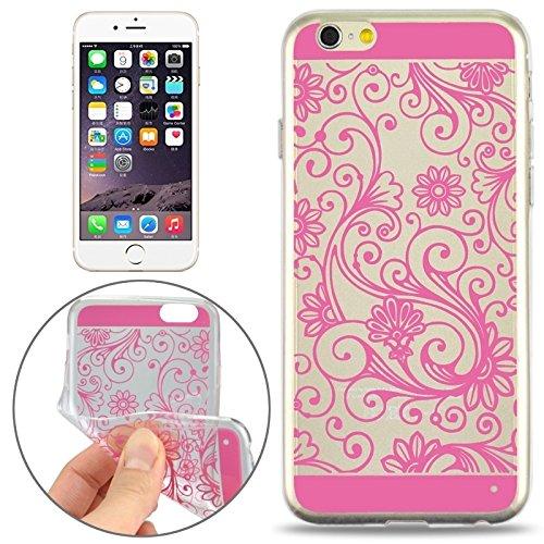 Phone Taschen & Schalen Ultra-dünne Blumenmuster Soft TPU Schutzhülle für iPhone 6 Plus & 6S Plus ( Color : Pink )