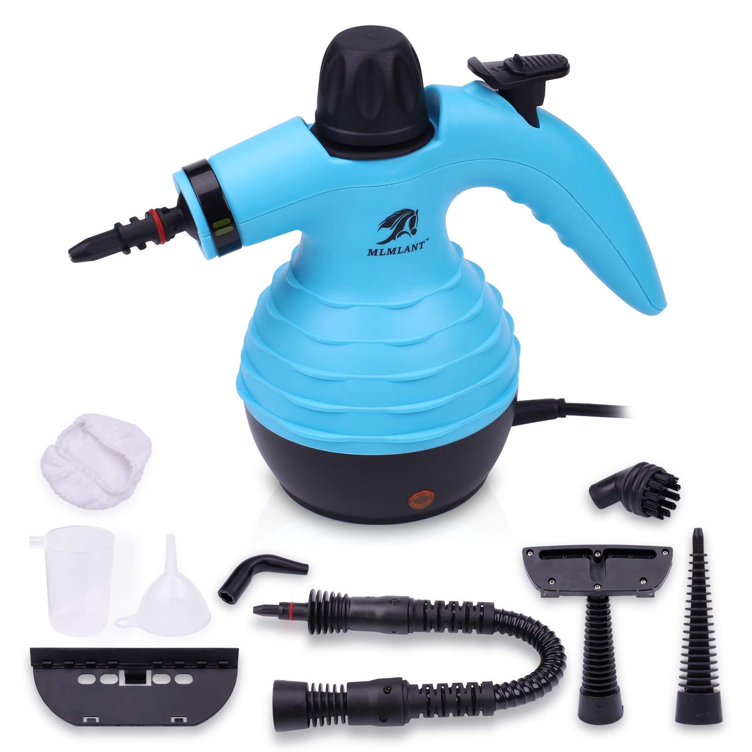 MLMLANT Handheld Pressurized Steam Cleaner 9-Piece Accessory Set - Multi-Purpose Multi-Surface All Natural, Chemical-Free Steam Cleaning Home, Auto, Patio, More by MLMLANT