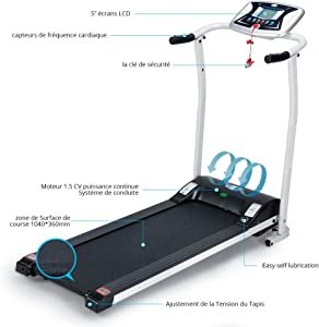 Aceshin Treadmill for Walking, Folding Treadmills for Small Spaces, Motorized Fitness Compact Running Equipment
