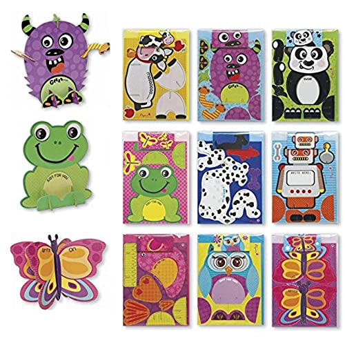 Kids birthday cards amazon assorted 3d birthday cards for kids box set 9 pack card set assortment for children boys girls bookmarktalkfo Image collections