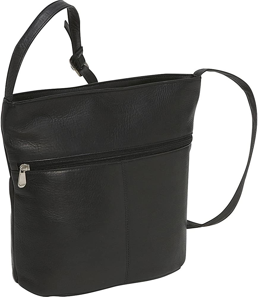 Le Donne Leather Bucket Shoulder Bag Black