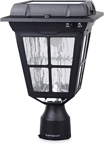Kemeco ST4310Q-A Post Solar Light Bright 150 Lumens Warm White LED Outdoor Cast Aluminum Cap Patio Lighting for Pillar Pole Pathway Driveway Garden Landscape Yard