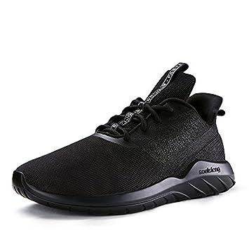 Soulsfeng Zapatos Deportivos Zapatillas Zapatos de Hombres para Mujer Calzado Deportivo Zapatos Planos Zapatos Con Cordones(negro 46EU) VmZwWPu