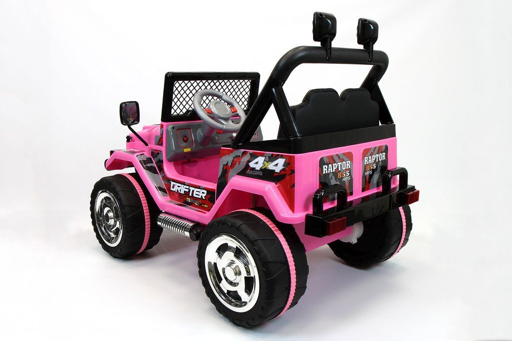 Coche eléctrico 12V Drifter 2 plazas para niños con mando a distancia 2.4G Arranque suave. Opción FULL. Rosa: Amazon.es: Juguetes y juegos