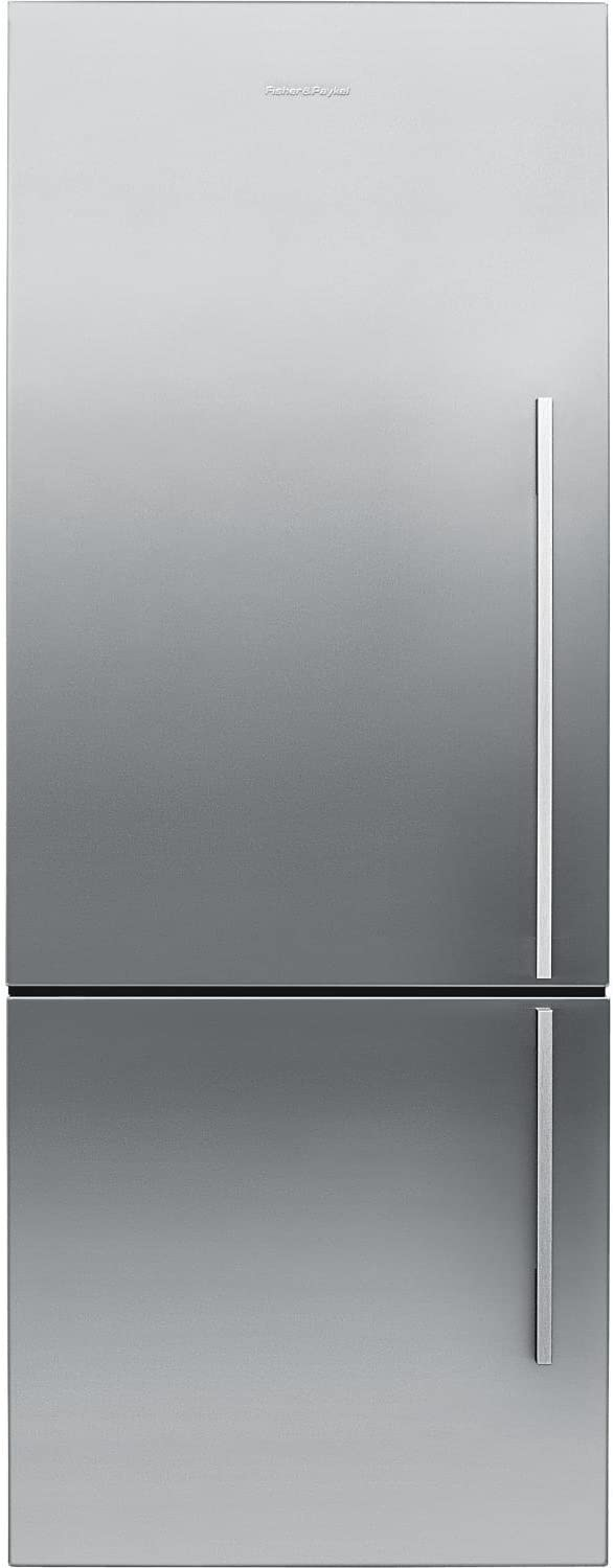 "Fisher Paykel RF135BDLX4 25"" 13.4 cu. ft. Left Hinge Counter Depth Bottom Freezer Refrigerator With Glass Shelves ActiveSmart Technology LED Lighting and Humidity Control System in Stainless"