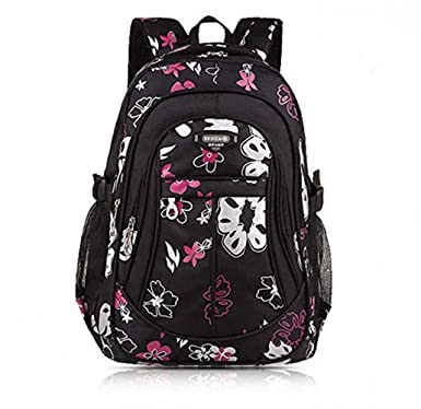 1ee33772c70b belababy Fashion Girl Backpack for Students Children Butterfly School  Backpacks  Amazon.co.uk  Clothing