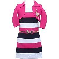 Sky Heights Girls' Jacket Middi (Party Wear Dress for Kids)