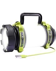 Lampe de poche LED CREE rechargeable 500 lm avec batterie de 2600 mAh, lampe de poche à intensité variable avec lumière d'avertissement pour camping, pêche, aventure, randonnée, urgence, etc.