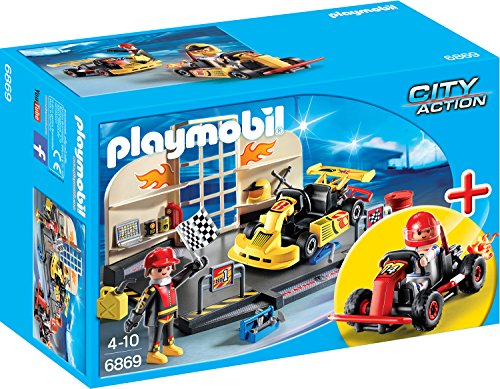 PLAYMOBIL 6869 - StarterSet Gokart-Werkstatt, Spielwerkzeug