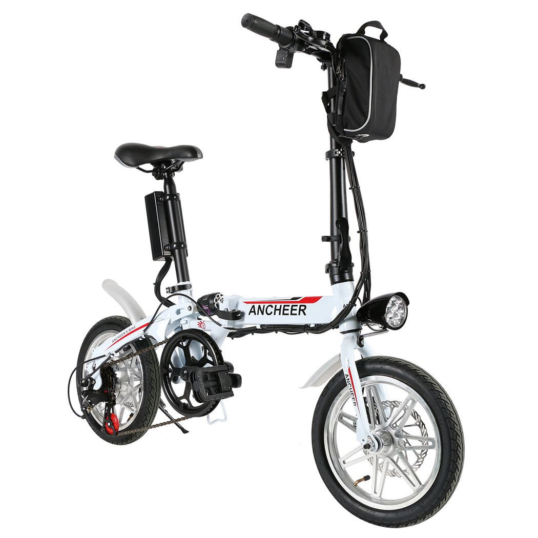 Bicycle Electric Folding Bike 36V 250W 14Inch White