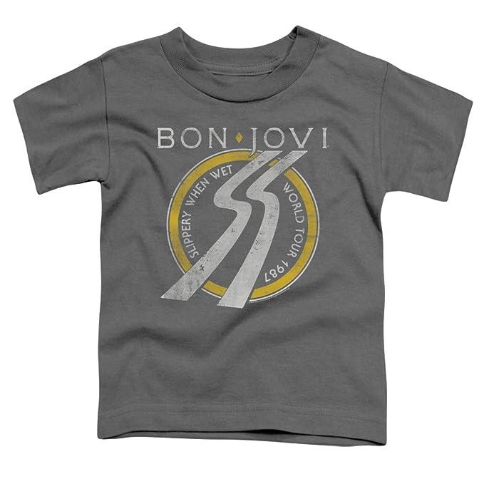 0abfe7d72d9 Amazon.com  Bon Jovi Slippery When Wet Tour - Toddler T-Shirt  Clothing
