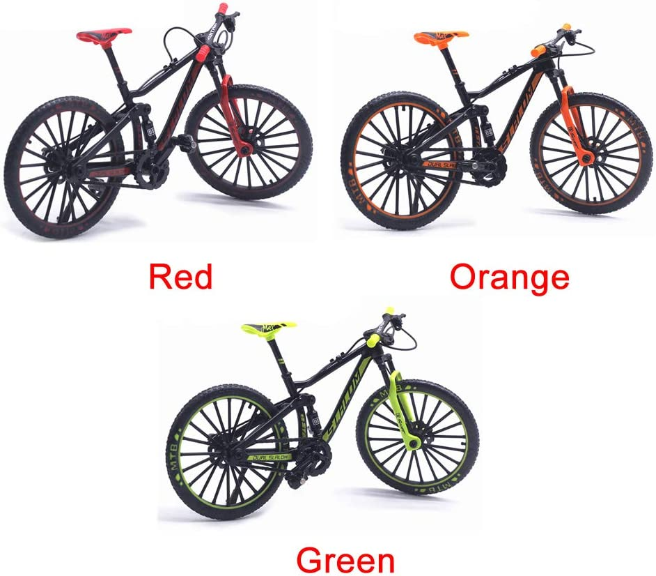 naranja Tama/ño libre modelo de ciclismo Diecast Toy Desk Craft Collection No cero. Cicony Finger modelo 1:10 Bicicleta de monta/ña de metal