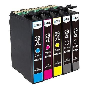 LxTek Compatible Cartuchos de tinta Epson 29 XL (2 Negro, 1 Cian, 1 Magenta, 1 Amarillo)  para Epson Expression Home XP-235 XP-245 XP-247 XP-332 ...