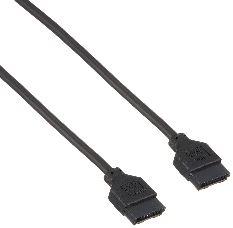 StarTech.com LSATARND6 6-Inch Latching Round SATA Cable