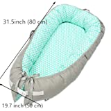 Abreeze Baby Bassinet for Bed -Blue Clouds Baby