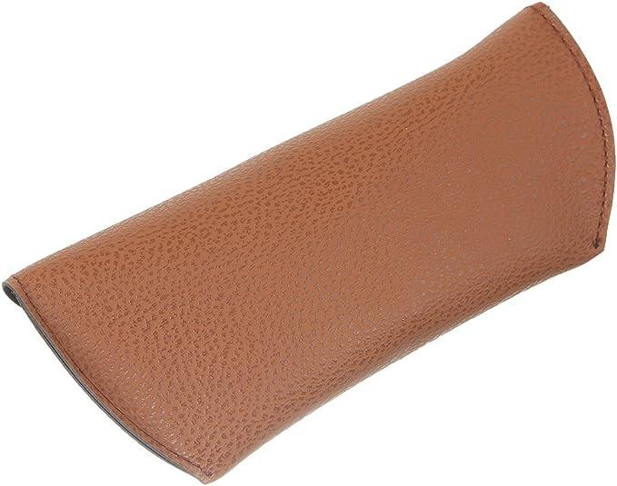 V-SOL Estuche Caja de Gafas de Cuero Artificial (marrón): Amazon.es: Equipaje