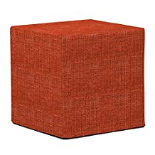 Howard Elliott Collection 850-885 Coco No Tip Block Ottoman, Coral