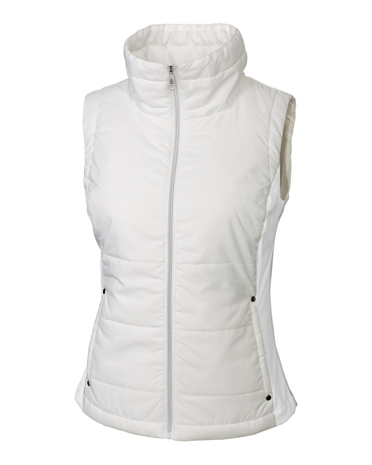 Cutter & Buck Women's CB Weathertec Claudia Quilted Vest, White, X-Small by Cutter