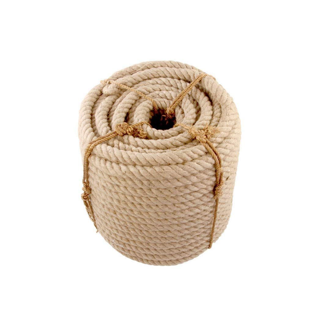 WCS Safety Natural 5-10M 35/40mm Strong Jute Hemp Ropes Twine Cord Rustic Country Craft DIY Handmade Accessories Nordic Home Decor Cat Pet Scratching (Size : 40MM/7M)