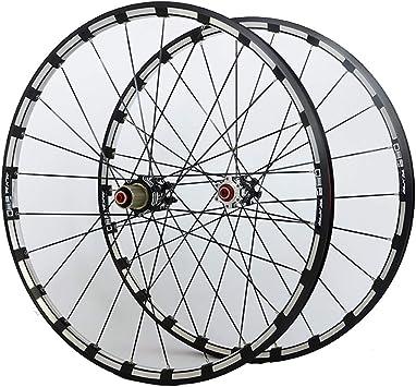 MZPWJD MTB Rueda Bicicleta para 26 27.5 29 Pulgadas Juego Ruedas Bicicleta Doble Capa Llanta Aleación 7 Palin Bearing Freno Disco QR 7-11 Velocidad 24H 1742g: Amazon.es: Deportes y aire libre