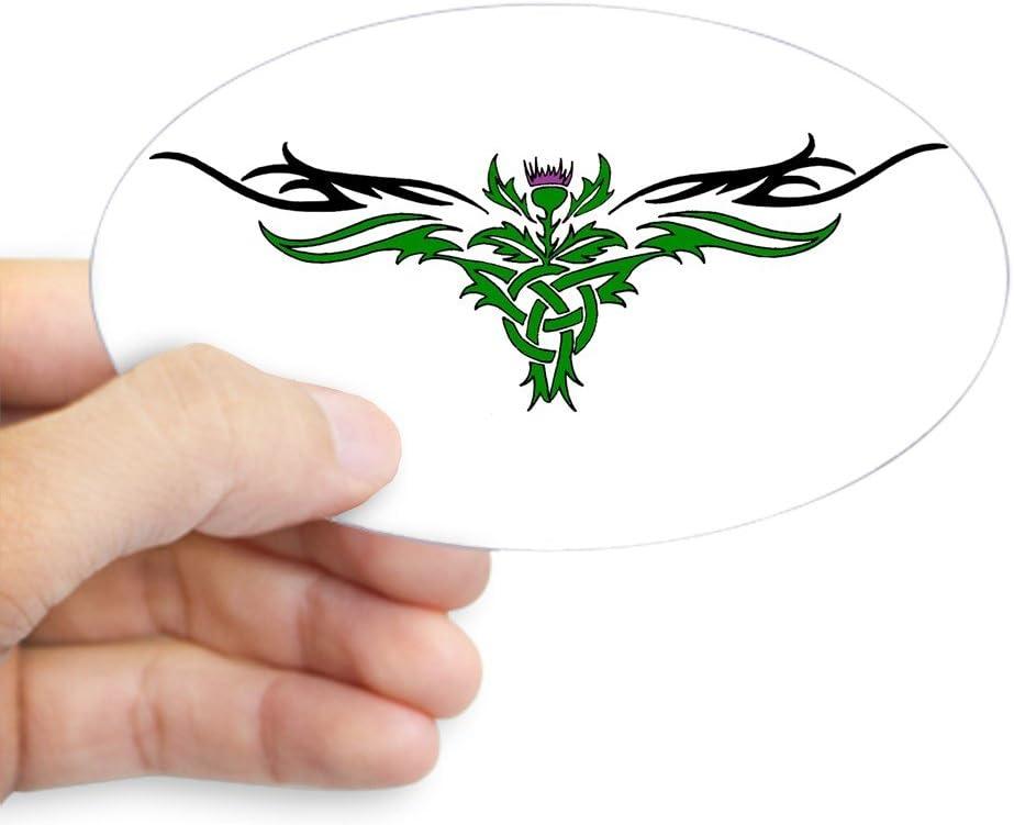 /Tribal Distel Oval Aufkleber/ Large farblos CafePress/ /oval Bumper Sticker KFZ Aufkleber 4.5x7.5