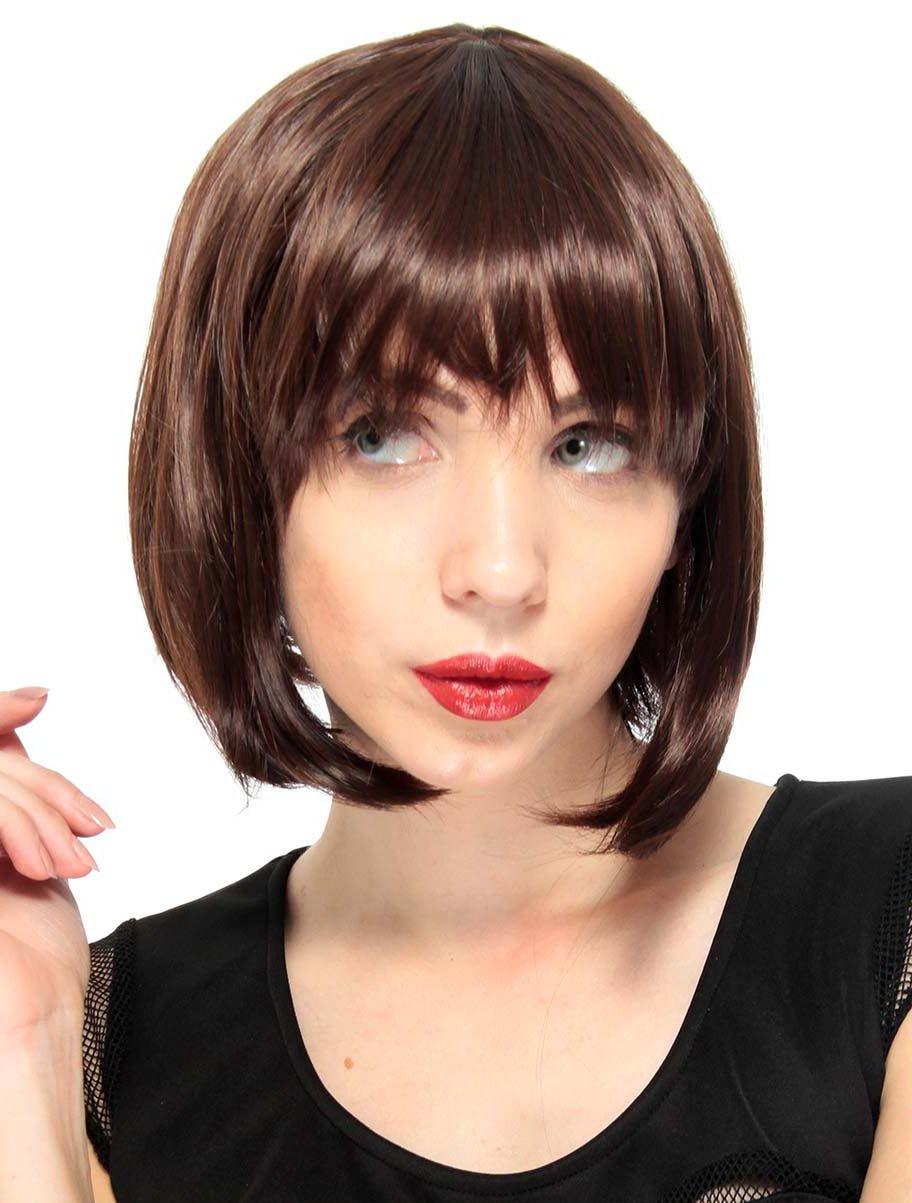 Amazon Simplicity Womens Vintage Straight Wig Short Bob Brown