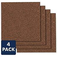 Quartet Cork Board Bulletin Board Tiles, 12