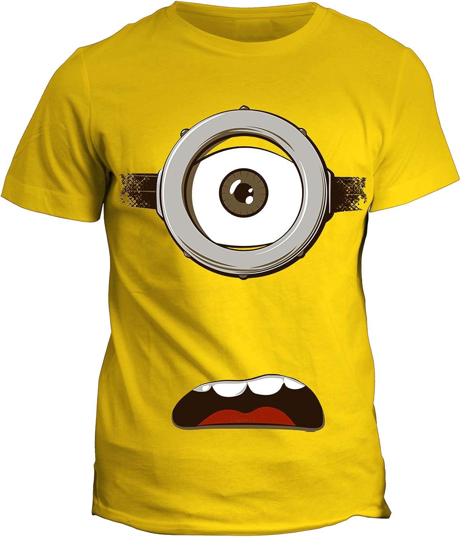 Film Cult in Cotone Cartoon Cartoni fashwork Tshirt Minion occhioni Simpatici