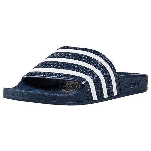 Adidas Fußball Adilette Aqua Slipper Badelatschen Herren blau weiß