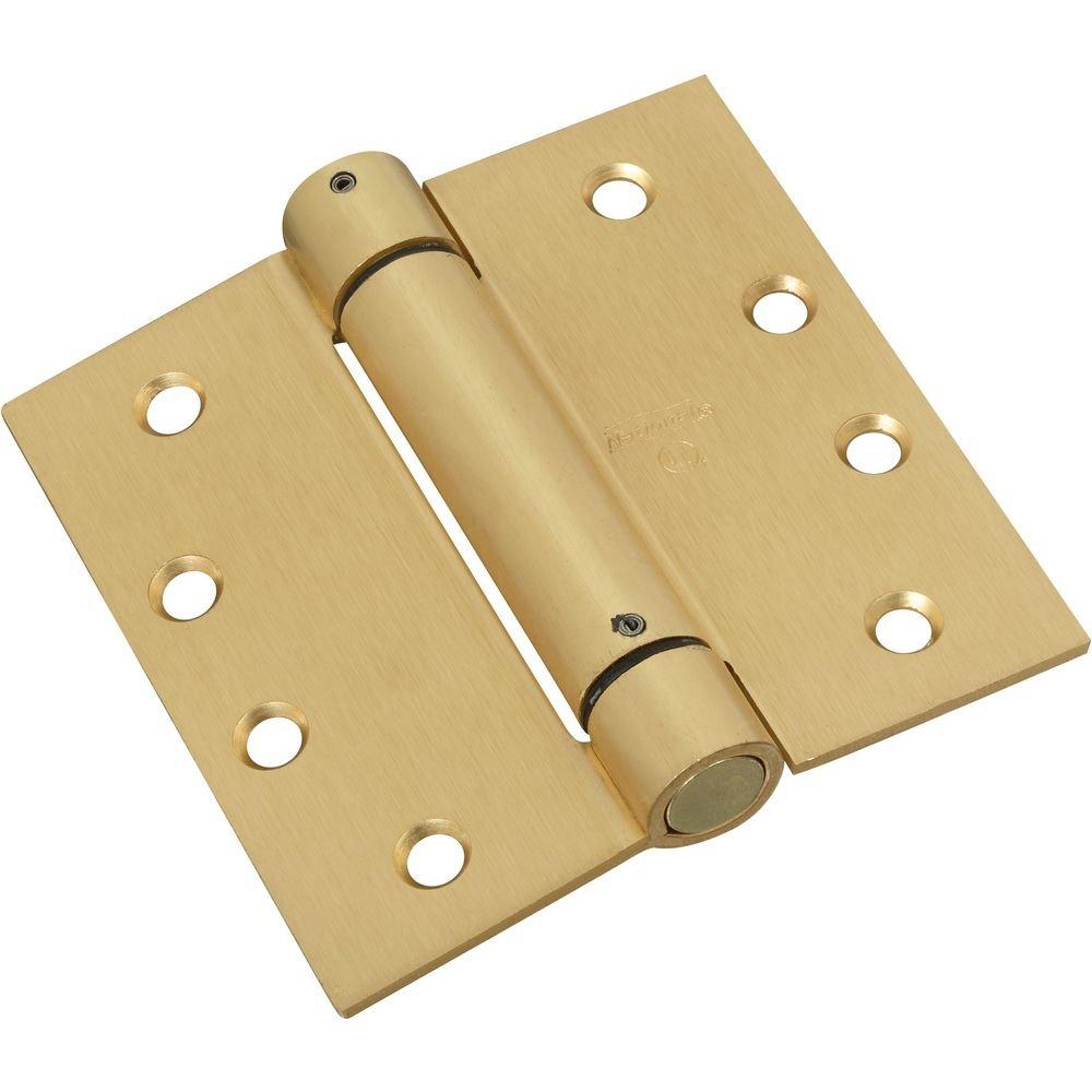 National Hardware N184-572 V520 Spring Hinge in Brass